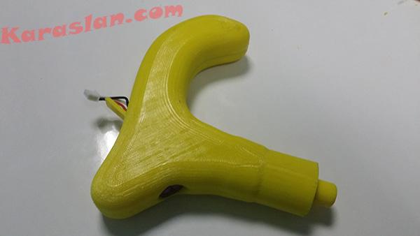 görme engelliler için özel tasarım baston, 3 boyutlu baskı